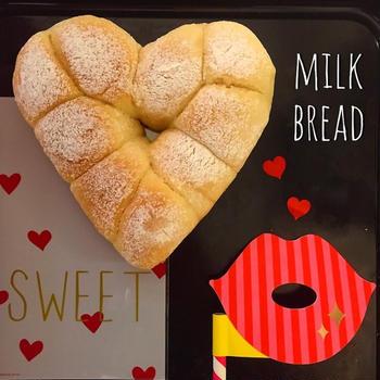 Fill your heart♡ふわふわ甘いミルクちぎりパン