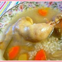 チキンレッグでサムゲタン風のレシピ