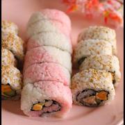 ひな祭りに♪桃色寿司ロール