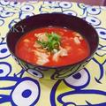 トマトジュースで温冷どちらもトマト味噌汁