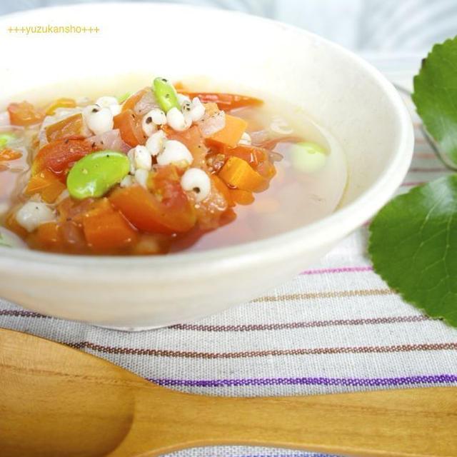 はと麦と野菜のスープ*8月10日はと麦の日