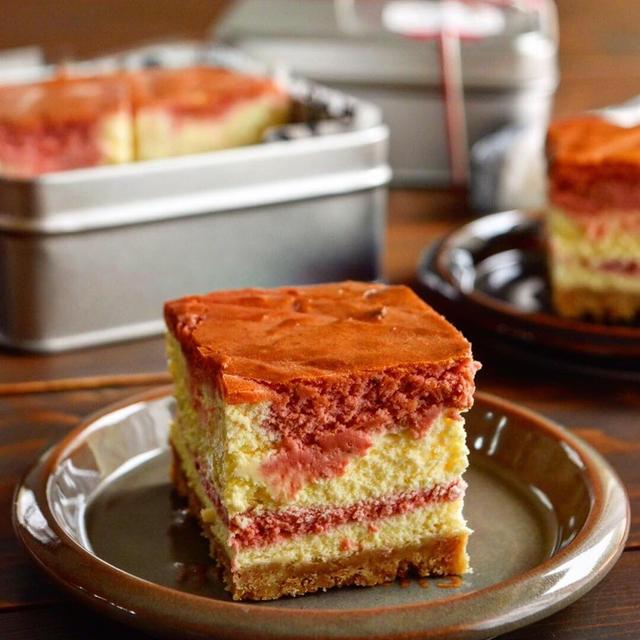 【レシピ】濃厚いちごのニューヨークチーズケーキ#ラッピング#cotta#母の日