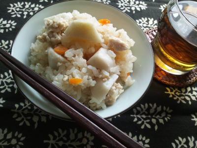 里芋の土鍋炊き込みご飯