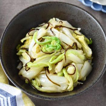 レンジで簡単♪包丁不要♪【白菜の塩こんぶ和え】#時短 #節約