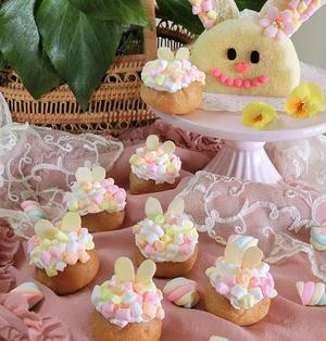 簡単かわいいイースターのお菓子♪うさぎちゃんです。