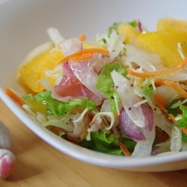 柿と生ハムのおつまみサラダ☆