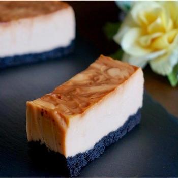 【簡単】ほろ苦い大人のカラメルニューヨークチーズケーキのレシピ