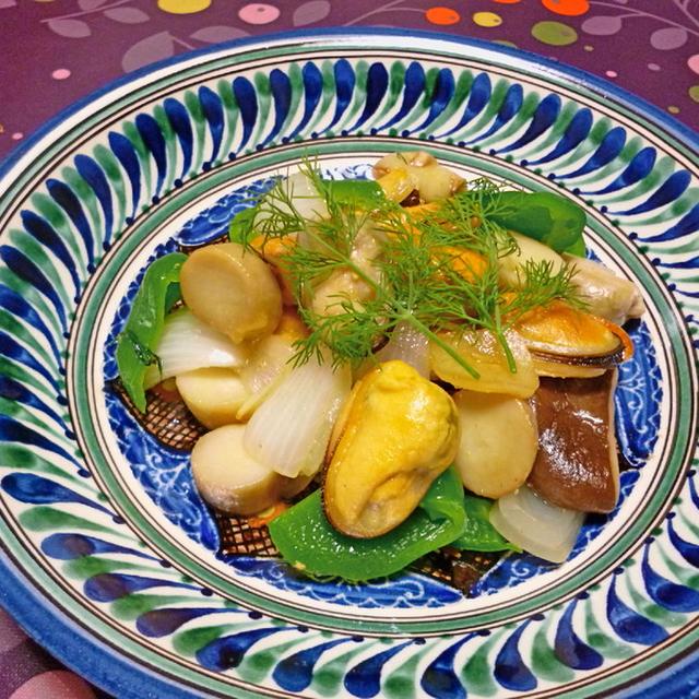 ムール貝と新玉ねぎのソテー