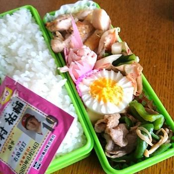 7/24 豚肉とピーマン、えのきのさっぱり炒めなお弁当