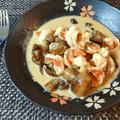 茸の贈り物。美味しいバタージンジャー海老マッシュチーズ煮(糖質3.1g) by ねこやましゅんさん