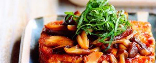 きのこたっぷりボリューミー!豆腐ステーキで秋の味覚を楽しもう♪