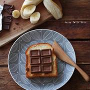板チョコトースト。
