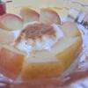 りんごの水煮のせヨーグルト