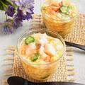 夏のおもてなし * 魚介と夏野菜の白だし寒天寄せ by 庭乃桃さん