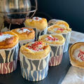 季節のノンオイルカップシフォンケーキ〜さくら餡や苺ジャムプをプラスして
