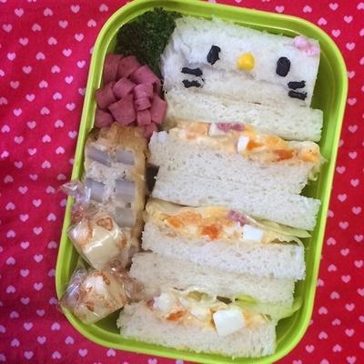 2015/03/13 幼稚園弁当☆ゴハンを炊き忘れてなんとか作ったよ~! キャラ弁