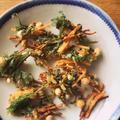 春菊とひよこ豆のかき揚げ