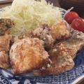 ふんわり太刀魚の竜田揚げと和風ポテトフライ