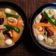 心の声と使っての声で晩御飯~豆乳チャンポン麺~