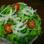 わさび菜のカラフルペパーサラダ
