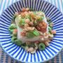 簡単すぎるのに美味しい♪豆腐にちくわと長ネギと天かすのせ