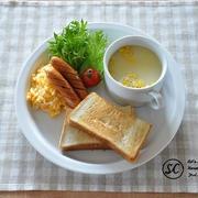 【朝のワンプレート】トーストとスクランブルエッグの洋風定食《節約*簡単》