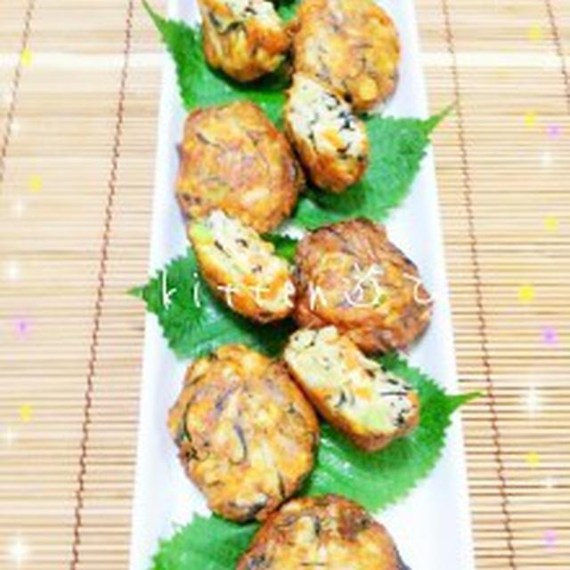 豆腐だって主菜になりたい!!味のアクセント付8品目の野菜たっぷ~り♡がんもどき