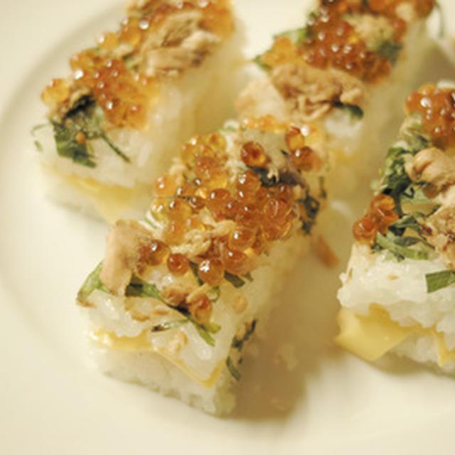 レモン酢飯の押し寿司