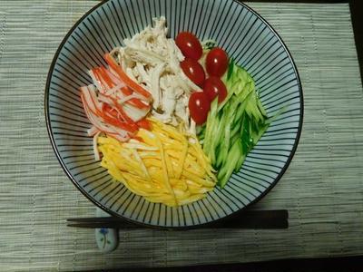 素麺の冷やし中華風^0^