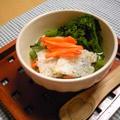 オーブントースターで簡単☆小松菜のおこげスープ