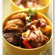 豚こま肉団子と彩り野菜の甘酢炒め弁当