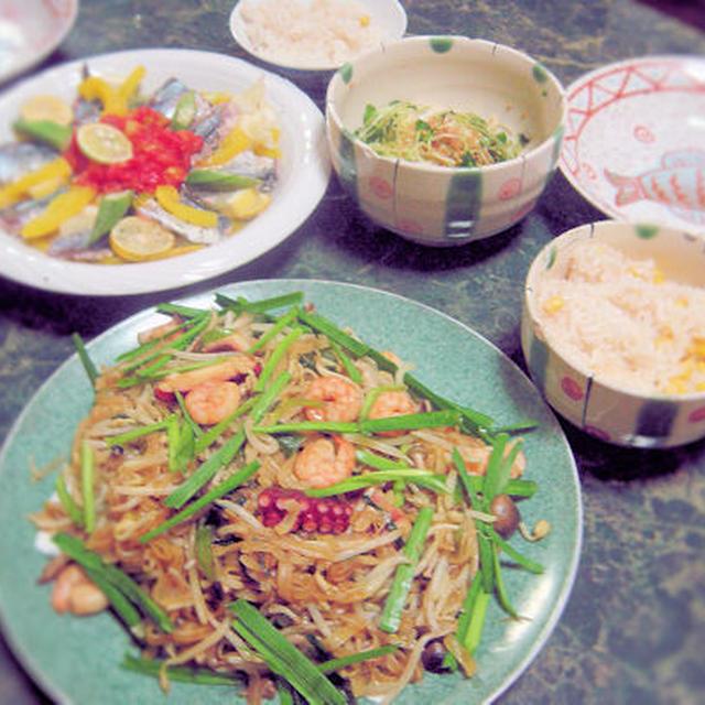8月16日☆鰯のルクエマリネ・イタリアンテイストの夏野菜お料理2種等全6品(お盆バージョン)