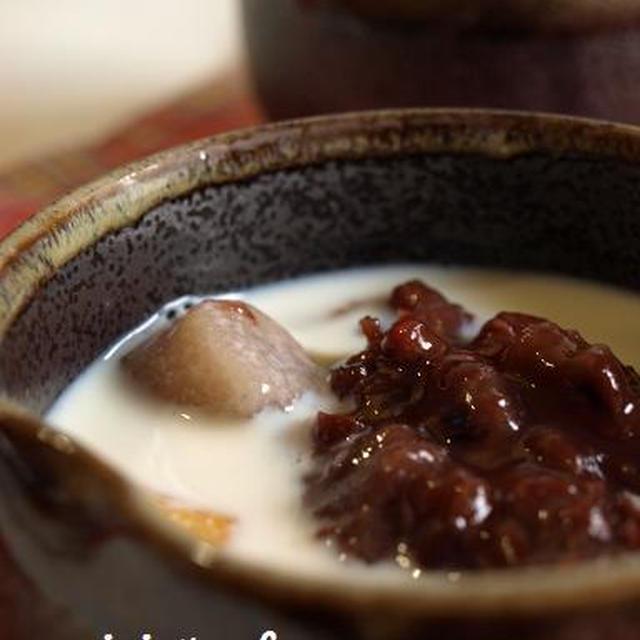 里芋団子の豆乳ぜんざい