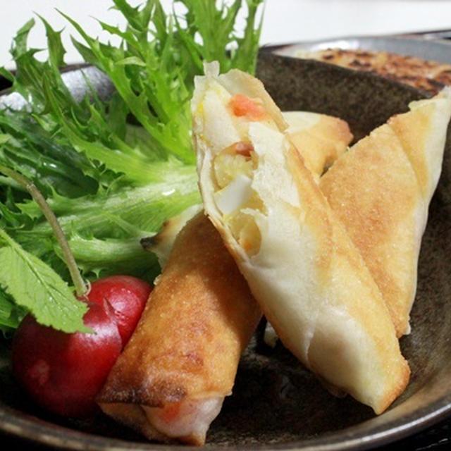 ポテサラ春巻きとマルちゃん正麺しょうゆ~~♪