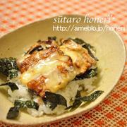 秋刀魚のピリ辛チーズ丼