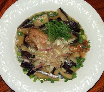 赤魚を中華風に+夏野菜