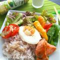 グリル野菜たっぷり☆鮭サラダプレート