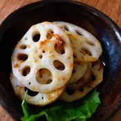 レンコンの塩オイル梅肉カツオ
