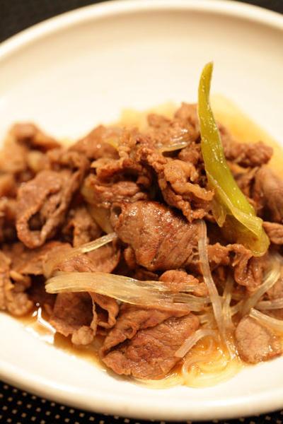 牛肉のすき焼き風