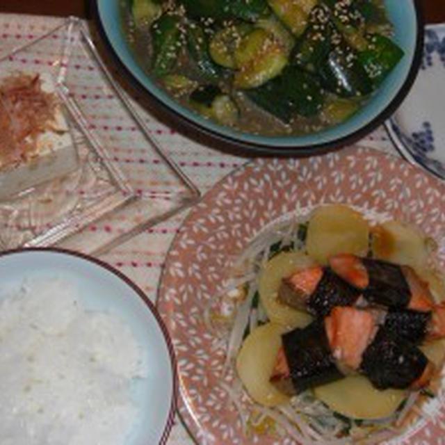 海苔巻き鮭の照り焼きソース