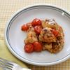 鶏トマトのガーリックバジル炒め
