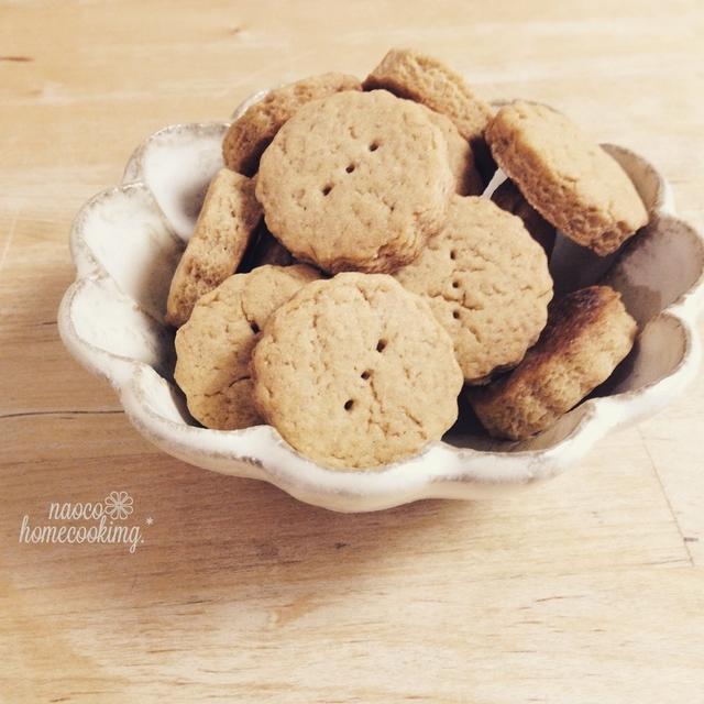 簡単♪きな粉のノンバタークッキー と娘とのはなし