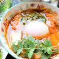 *さつま揚げ温玉スープで縁側ランチ* by シロさん