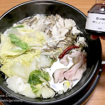 鱈しょっつる出汁で豚しゃぶ鍋