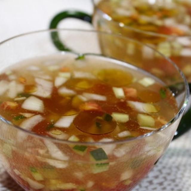 365日汁物レシピNo.161「夏野菜の冷たいスープ」