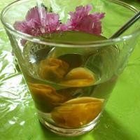リンゴ酢で梅シロップとイタキスのリダと花