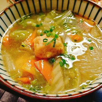豆腐団子春雨スープ