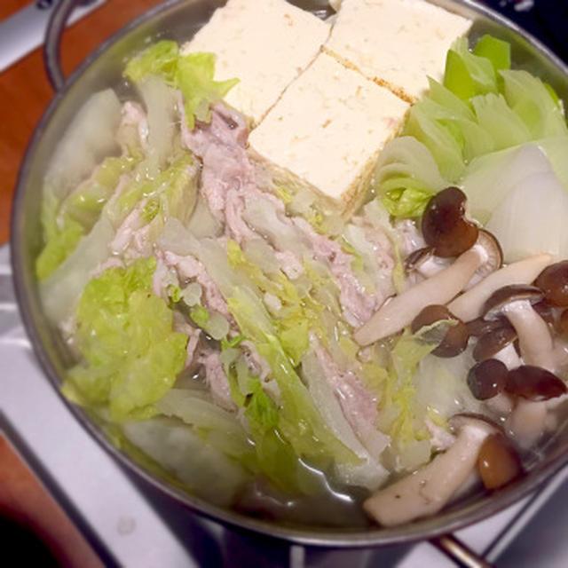 白菜と豚バラ重ね鍋 (献立2015.1.19)