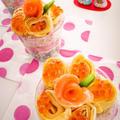 ひな祭りの長芋三色寿司