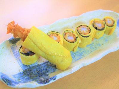 海老フライの海苔巻き卵☆お弁当に♪
